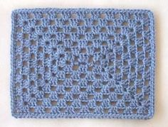"Fairly easy.. 7""x9"" Granny square for Warming up American project for Michaels stores"