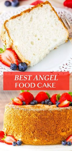 You can make the Best Angel Food Cake ever with just six ingredients! This cake is light, airy and SO much better than any store-bought version! Follow my recipe and tips to get the ultimate Angel Food Cake! Angel Cake, Angel Food Cake, Köstliche Desserts, Delicious Desserts, Dessert Recipes, Angle Food Cake Recipes, Easy Cake Recipes, Mini Cakes, Cupcake Cakes