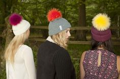 Colourful Bobbls and hats - Great for winter
