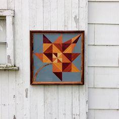 Handmade Barn Quilt Wood Mosaic  Wall Hanging by GoodRiddanceFarm