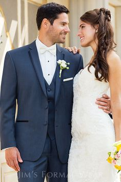 Slate Blue Aspen Slim Fit Tuxedo Wedding