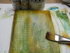 Painted and distressed backgrounds using an old telephone book.