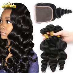 Find More Human Hair Weft with Closure Information about Brazilian Virgin Hair…