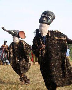 West Africa Cameroon Bantu mask dance