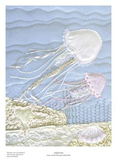 #Jellyfish picture - Limited edition giclee print of textile artwork £17.50
