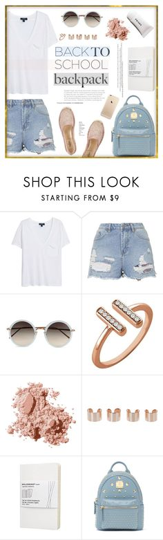 """Back to School!"" by stellaasteria ❤ liked on Polyvore featuring MANGO, Topshop, Linda Farrow, Stuller, Bobbi Brown Cosmetics, Maison Margiela, Moleskine, Bebe, Valentino and women's clothing"
