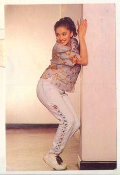 Madhuri Dixit looking like she's having fun.