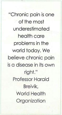 Chronic Pain I hope they will understand it!