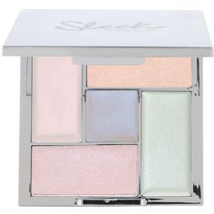 Sleek Sleek Makeup Distorted Dreams Highlight Palette ($15) ❤ liked on Polyvore featuring beauty products, makeup, face makeup, highlight makeup, highlight face makeup and palette makeup