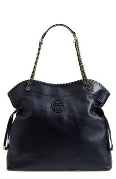 Tory Burch 'Marion' Leather Tote available at #Nordstrom