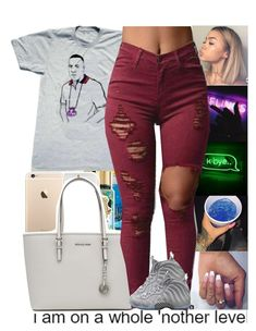 """""""Juice Yo Gotti"""" by issaxmonea ❤ liked on Polyvore featuring MICHAEL Michael Kors and NIKE"""