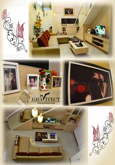 Family Room, Living Room, Custom Furniture by Gravitect Indonesia