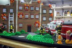 Cake boss fire rescue cake