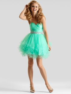 This cute and affordable Clarisse prom dress is a great choice for your special event. This Clarisse 2303 prom dress has a sweetheart neckline, fitted and ruched bodice, and a delicate jewel waistband. Completing this Clarisse prom dress is a short layered skirt with ruffles. This Clarisse prom dress is made in tulle fabric and is available in winter mint, hot pink and royal blue, three of the most popular colors for this season. Feel free to flirt and look cute doing it in this Clarisse ...