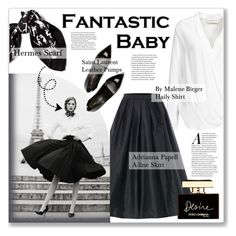 """""""FANTASTIC BABY"""" by emmas-fashion-diary ❤ liked on Polyvore featuring By Malene Birger, Hermès, Adrianna Papell, Yves Saint Laurent and Dolce&Gabbana"""