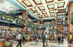Chicago Market.  Illustration by Bondy Studio. 1999