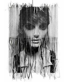 Portrait made in collaboration between photographer Michelangelo di Battista and illustrator Tina Berning Paper Weaving, Weaving Art, Photomontage, Tina Berning, Tachisme, Gcse Art, Michelangelo, Grafik Design, Art Plastique