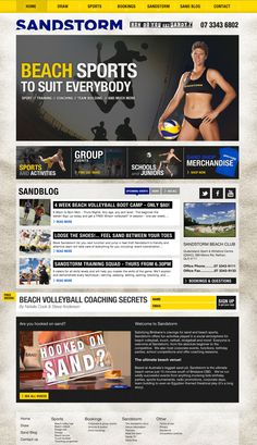 Welcome to my web design portfolio here you will find examples of my work completed whilst working as the Head of Web Design at my Brisbane day job. Rachel Green, Sports Training, Beach Volleyball, Team Building, Coaching, Web Design, Anna, Concept, Activities