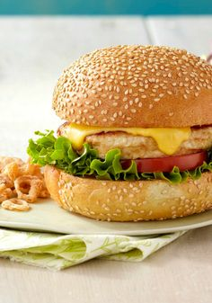 Grilled Turkey Burgers — Dijon mustard and light mayo mixed with ground turkey give these burgers a surprising flavor punch.