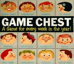 box of Game Chest, 1958, Transogram