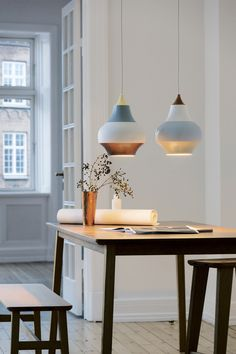 Louis Poulsen's Cirque pendant lamps.                                                                                                                                                                                 More