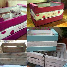 1000 images about caixes de fruita reciclables on - Manualidades con cajas de frutas ...