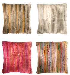 Recycled cotton & jute cushion cover