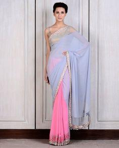 Manish Malhotra sari 2014 #sari. Love the colours!