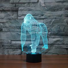 3D LED Optical Illusion Light- Gorilla
