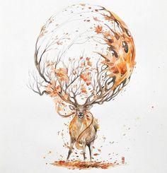 Bộ tranh được vẽ bằng màu nước tuyệt đẹp về động vật
