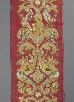 Crimson Border  Italy, Late 16th - early 17th century