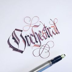 Orchestral.  Calligraphy by SevenSeventyFive