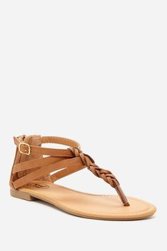 Carrini Braided Strap Sandal