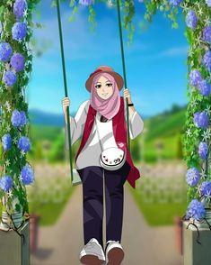 Doraemon Wallpapers, Cute Wallpapers, Cartoon Pics, Cartoon Art, Wallpaper Wa, Hijab Drawing, Islamic Cartoon, Hijab Cartoon, Islamic Girl