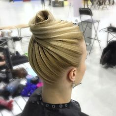 Latin Hairstyles, Pretty Hairstyles, Wedding Hairstyles, Updo Hairstyle, Angelo Seminara, Ballroom Dance Hair, Competition Hair, Natural Hair Styles, Long Hair Styles