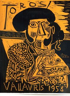 "By Pablo Picasso, ""Toros Vallauris 1958"". http://www.ebay.com/itm/Pablo-Picasso-Lithograph-Toros-Vallauris-1958-Art-Lithograph-Print-/261079709708?pt=Art_Prints=item3cc990380c"