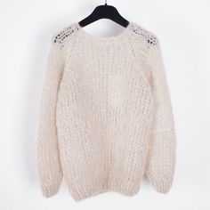 Maiami Mohair Basic Sweater - Beige http://www.chicedition.com/maiami-mohair-basic-sweater-beige.html