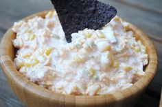 jalapeno corn dip...looks yummy!!  I love dips and appetizers for summer entertaining!!  :)