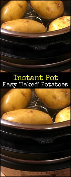 Instant Pot Easy Baked Potatoes may be my new favorite trick! We LOVE making loaded stuffed baked potatoes and this makes it even easier! A great way to use up that leftover BBQ or taco meat! (Baking Tips Potato Recipes) Steamed Potatoes, Stuffed Baked Potatoes, Loaded Baked Potatoes, Cheese Potatoes, Power Pressure Cooker, Instant Pot Pressure Cooker, Pressure Cooker Recipes, Pressure Cooking, Slow Cooker
