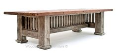 Reclaimed Barn Wood Mission Style Table