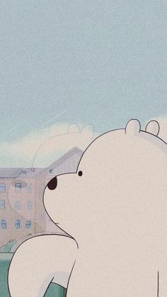 Ice bear wandering off Cute Disney Wallpaper, Wallpaper Iphone Disney, Kawaii Wallpaper, Cute Wallpaper Backgrounds, We Bare Bears Wallpapers, Panda Wallpapers, Cute Cartoon Wallpapers, Cartoon Profile Pictures, Cartoon Pics