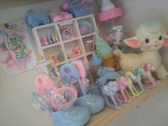 .pastel kawaii and vintage toys