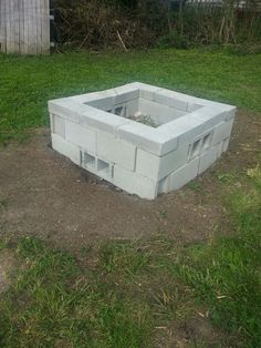 This is the #firepit i just built! One thing I learned was that if you don't have holes for air circulation, then your fire will only burn on the top. 2 rows of 10 cinder blocks each and top row of 10 cap blocks cost me only $45 and ALOT OF HEAVY LIFTING!