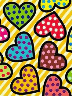 Formas abstratas Heart Wallpaper, Colorful Wallpaper, Valentines Art, Arte Pop, Painted Pots, Heart Art, Art Plastique, Doodle Art, Art Lessons