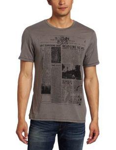Kenneth Cole Men's Newsprint Graphic T-Shirt
