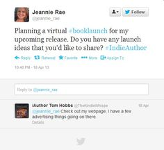 Author consulting services. Sending the prospect to a blog post full of tips is both helpful - and generates a lead.