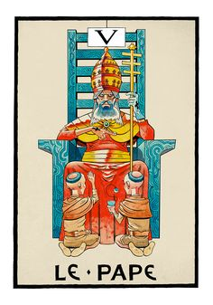 V. The Hierophant - Jamie Hewlitt Tarot by Jamie Hewlitt