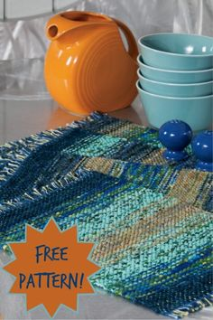 I love how the rags in this project slowly shift colors along the placemats! Ombre and rag weaving: two trends I love! (PS the instructions for this project are totally free!)