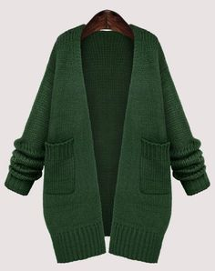 Cardigan Women Open Stitch Full Sleeve Female Long Sweaters And Knitwear Plus Size Casual Poncho Lady Sweater Coats S M L XL Long Sweater Coat, Long Knit Cardigan, Green Cardigan, Short Sleeve Cardigan, Long Sweaters, Sweater Jacket, Crochet Cardigan, Cardigan Sweaters, Shawl Cardigan