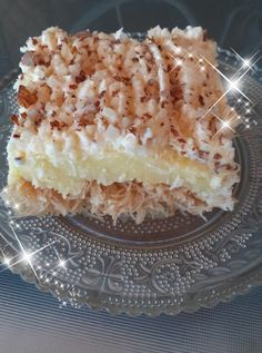 Greek Desserts, Greek Recipes, Custard Cake, Macaroni And Cheese, Lemon, Sweets, Ethnic Recipes, Food, Bakken